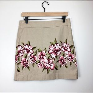 LOFT Floral Straight Work Skirt